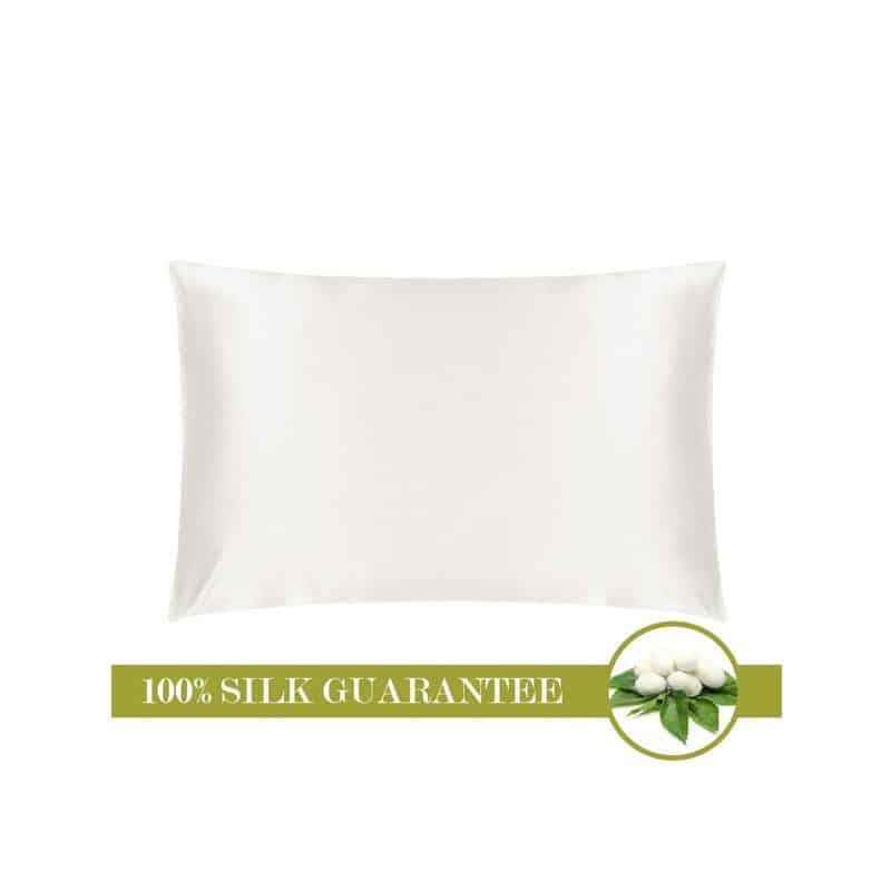 Mulberry White Silk Pillowcase (20 x 26 inches)